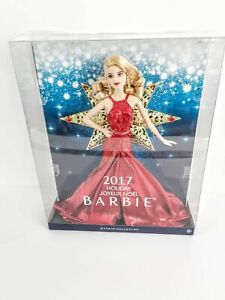 Holiday Barbie 2017 Blonde Hair Red Dress 11.5 inch Fashion Doll New