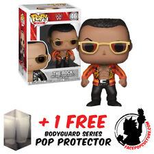 FUNKO POP WWE THE ROCK VINYL FIGURE + FREE POP PROTECTOR