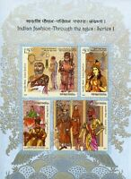 India 2018 MNH Indian Fashion 4v M/S Traditional Dress Costumes Cultures Stamps