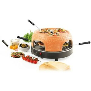 Giles & Posner 800W Electric Terracotta Dome Family Sharing Pizza Maker Cooker