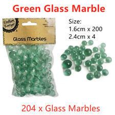 204pcs X Green Glass Marble Emerald Classic Toy Round Home Play Decor Cat