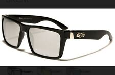 LOCS 91102 Black Sunglasses | Authentic Gangster Flat Top Designer Square Shades