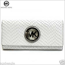 Michael Kors Wallet 35S5SFTE1N MK Fulton Flap Continental Embossed Leather Agsb