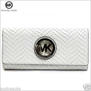 Michael Kors Wallet 35S5SFTE1N MK Fulton Flap Continental Embossed Leather Agsb