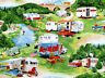 FABRIC VINTAGE TRAILERS CAMPING CAMPERS ELIZABETH STUDIO 100% COTTON BY THE YARD