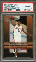 2003 Upper Deck Rookie Exclusives #1 Lebron James Rookie Card PSA 10