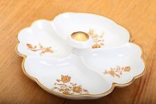 Limoges France Relish Tray Gold Flowers