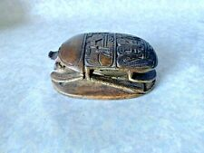ANTIQUE EGYPTIAN LARGE STONE CARVED SCARAB STATUE
