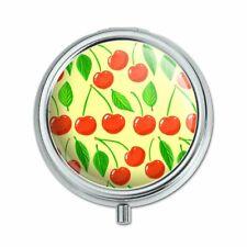 Cute Cherry Pattern Sketchy Pill Case Trinket Gift Box