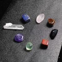 Natural 8 Quartz Crystal Healing Tumbled Stones Set Pouch Chakra Balance Kit