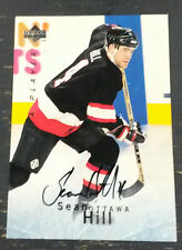 1996 UPPER DECK BAP Hockey Card SEAN HILL Autograph