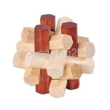 Kongming Luban Lock Classical Chinese Wooden Brain Teaser Toy Puzzle Fad #1
