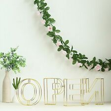 "8"" tall 3D Metal Wire Letters Signs Wedding Party Decorations Backdrop Supplies"