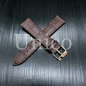 21 MM Watch Band Strap Genuine Leather Iwatch Alligator Crocodile Wrist Brown US