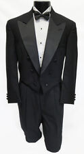 40L Mens Traditional Black Wool Chaps Tuxedo Tailcoat Halloween Costume Butler