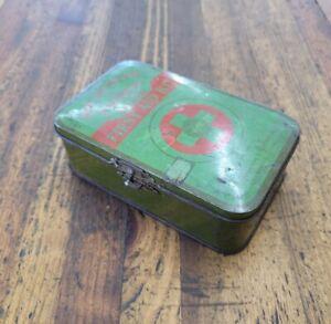 RARE Vintage Boy Scouts of America First Aid Kit Metal Tin Box ☆USA