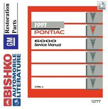 1991 pontiac 6000 shop service repair manual cd