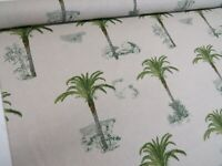 DIGITAL Designer Tropical Palm Tree Cotton Curtain Fabric Upholstery