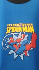 New Marvel Swinging Spiderman Medium Blue T-Shirt 98 - 104 cm Age 3 - 4