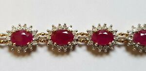 18ct Gold Ruby And Diamond Bracelet