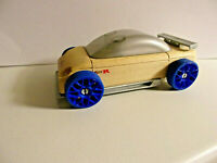 CALELLO Design Automoblox Holz blaue  Räder Sammler TOP Car Wooden