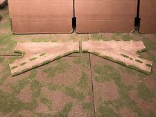 """28mm, 3""""-3"""" (Rural), R & L Turn Offs, road sections, 2pc,  PAINTED"""
