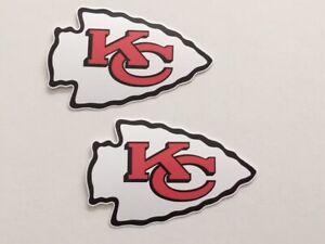 2x Kansas City Chiefs Car Bumper Laptop Scrapbook Vinyl Stickers Decals
