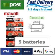 AG10 1.5V MAXELL Lithium Coin Button Battery 189,LR1130,LR54,SR1130W 5pcs