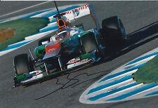 Jules bianchi main signé 12x8 photo sahara force F1.