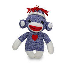 Plushland Adorable Sock Monkey, The Original Traditional Hand Knitted Stuffed 6