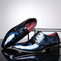 Men's Leather Lace Up Formal Business Shoes Wing Pointed Toe Wedding Dress New