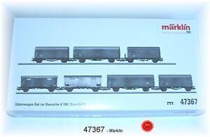 Märklin 47367 Güterwagen-Set der DB/FS 7-teilig passend zu 37288 gealtert #NEU#