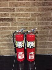 SET OF (2) NEW AMEREX 10lb ABC FIRE EXTINGUISHERS B456 & CERTIFIED TAG