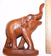 Wooden Elephant Hand Carved Figurine