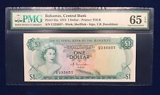 Bahamas 1974 One Dollar P-35a PMG Gem Uncirculated 65 EPQ