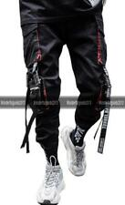 Men Work Combat Tactical Cargo Pants With Pocket Buckle Straps Techwear Trousers