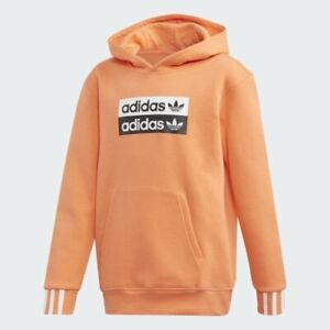 adidas Originals long sleeved hoodie. Sweat top. 7-8Y & 13-14Y