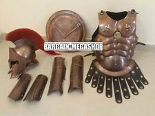 MEDIEVAL 300 King Spartan Helmet Set of Muscle Armour Shield Arm or Leg Guard