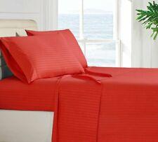 4 Piece Sheet Set 1800 Bedding Egyptian Comfort Deep Pocket Stripe Bed Sheets
