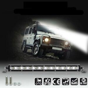 1x 14inch 120W CREE LED Work Light Bar Spot Beam Fog Lamp Offroad Driving Truck
