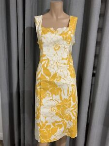REVIEW Size 12 Yellow & White Dress - Excellent Condition New