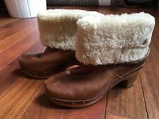UGG Size 6 Women's Lynnea Fashion Leather Brown Boots
