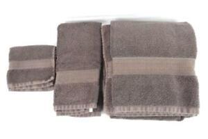 Canopy 3 Piece Towel Set Chocolate Brown Bath Hand Washcloth Cotton