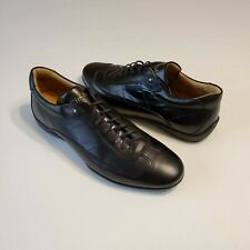 Finsbury Black Leather Sneaker Men's Shoes Size 42
