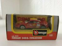 BURAGO MODELS - FERRARI 348TB EVOLUZIONE - 1/43 scale OLD SCHOOL TOY CAR - 4129