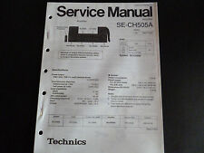 Original Service Manual Technics  Amplifier SE-CH 505A