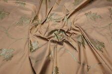 Dupion Seide Glanz Blumenmuster Bluse Kleid Schal Umhang Nachtkleid Silk Stoffe