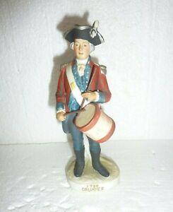 VINTAGE LEFTON  MILITARY PORCELAIN SOLDIER FIGURINE 1796 DRUMMER KW3678