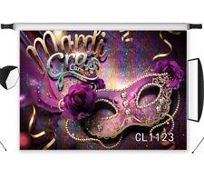 7x5FT Vinyl Photo Background Mardi Gras Carnival Mark Party Studio Backdrop Prop