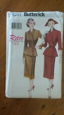 Butterick Retro 1951 Pattern #6241, Misses' Top, Skirt & Belt Sz 14-16-18